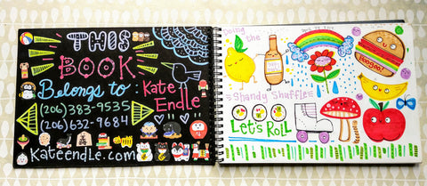 kate endle hand lettering sketchbook
