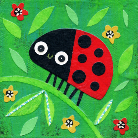 Kate Endle Ladybug On a Branch