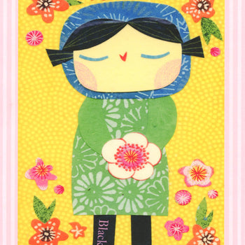 Girl With Blossoms Print