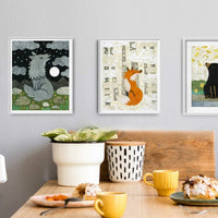 Black Bear By the River Print
