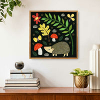 Hedgie in the Woodland Meadow Print