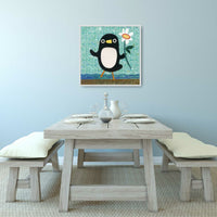 Penguin With a Flower Print