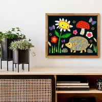 Woodland Hedgehog With Daisy Print