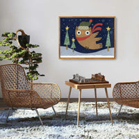 Holiday Hoo Flying High In the Midnight Sky Print