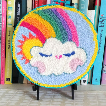 "Rainbow Day Punch Needle 8"" Round"