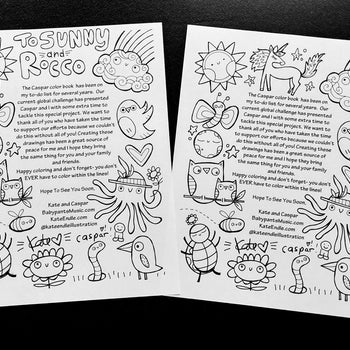 Color With Caspar And Kate Coloring Pages Volume 2