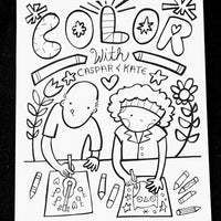 Color With Caspar and Kate Coloring Pages Volume 1