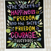 The Secret of Happiness Print