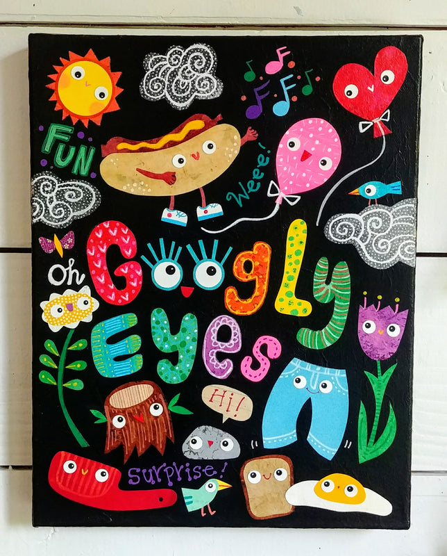 "Googly Eyes 11x14"" Original Collage"