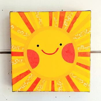"Sunny Sun 6x6"" Original Collage"