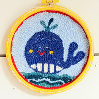 "Whale of A Time Punch Needle 6"" Round"