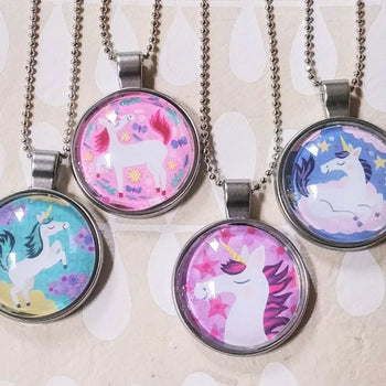 Unicorn Art Drop Necklaces
