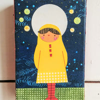 "Under the Stars 4x6"" Original Collage"