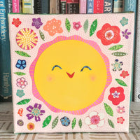 "Sunshine In My Garden 6x6"" Original Collage"