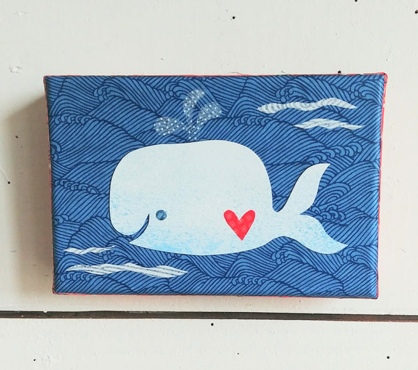 "Whale Luv 4x6"" Original Collage"
