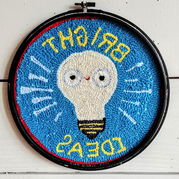 "Bright Ideas Punch Needle Embroidery 12"" Round"