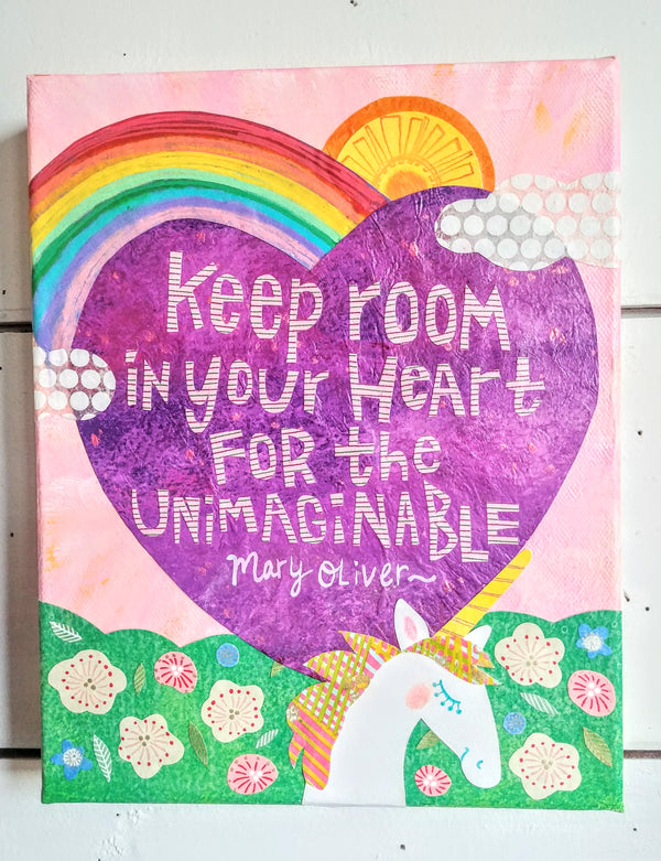 "Keep Room In Your Heart 9x12"" Original Collage"