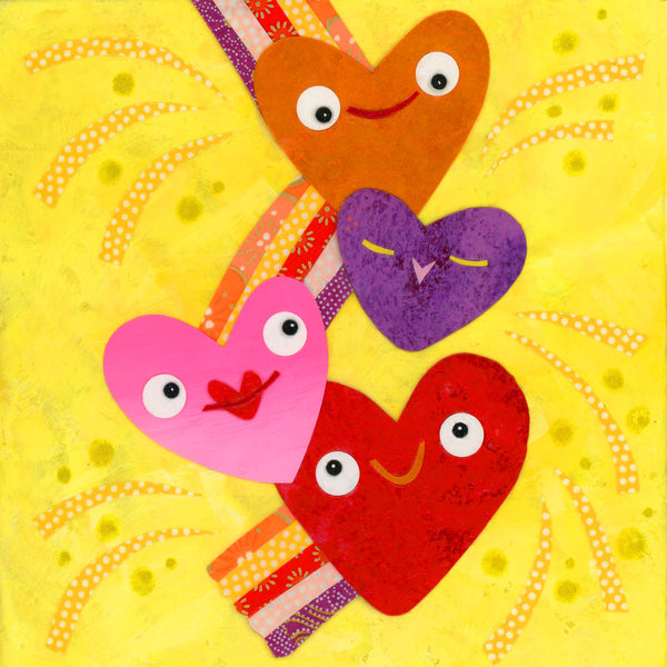 Shooting Hearts Love Print