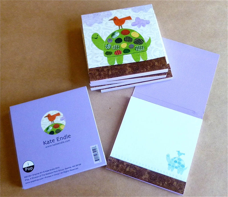 kate endle turtle note pad