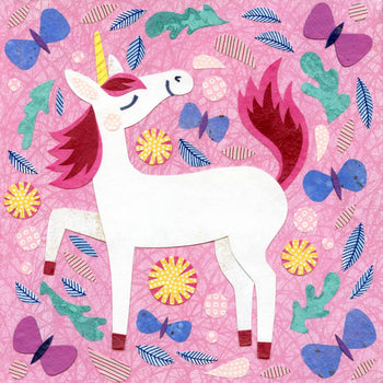 unicorn pink art print kate endle