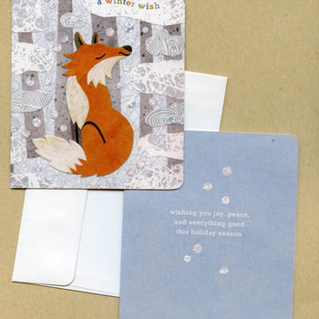 kate endle fox holiday christmas card