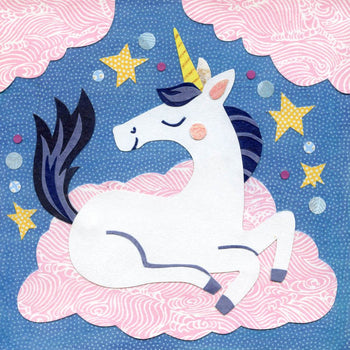 unicorn blue art print