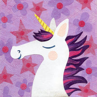 unicorn purple art print