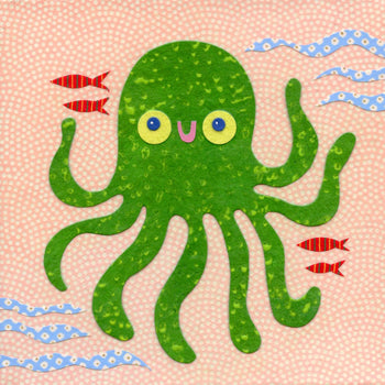 kate endle octopus art for children