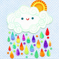 kate endle rainbow cloud art print