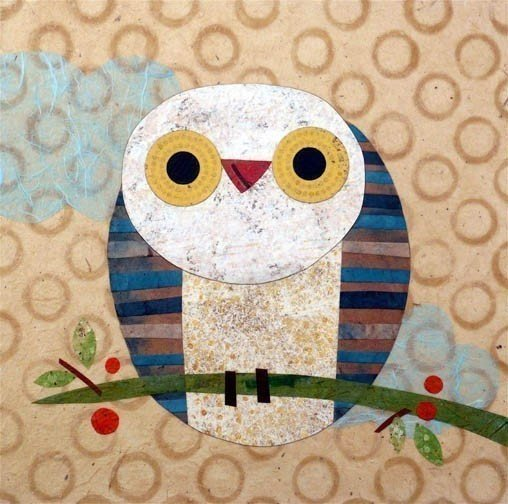 kate endle happy owl print