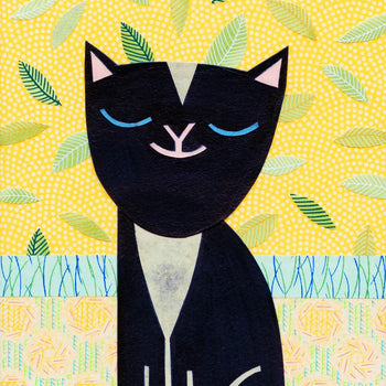 Kate Endle collage cat art print