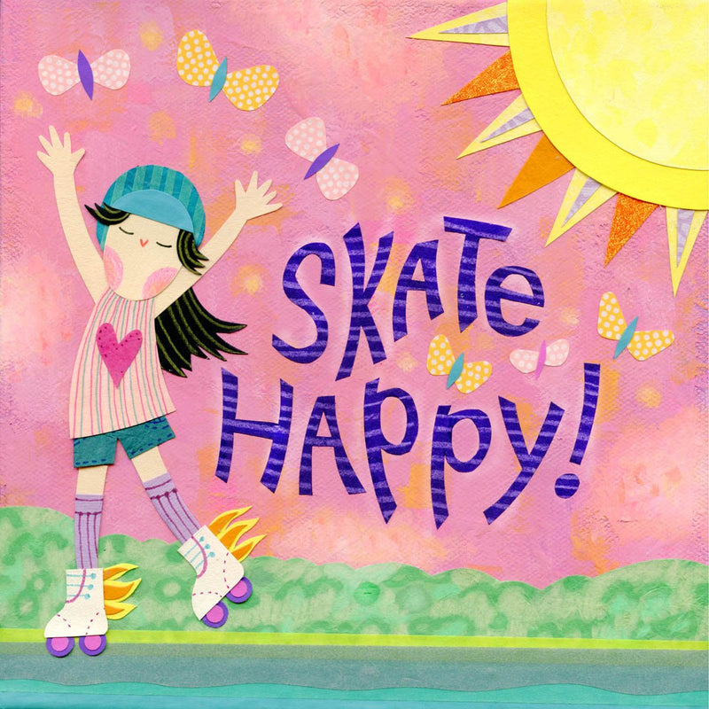 roller skating art print kate endle