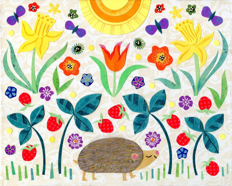 kate endle hedgehog art print