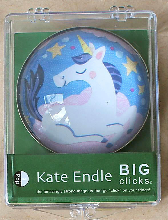 iPOP Big Clicks Unicorn Blue Magnet