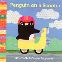 penguin on a scooter kate endle board book for children