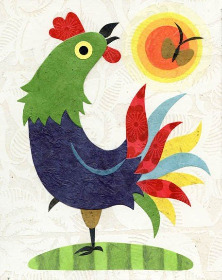 kate endle rooster print
