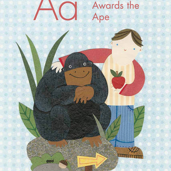 ape art childrens book illustration
