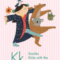 kimono children book illustration