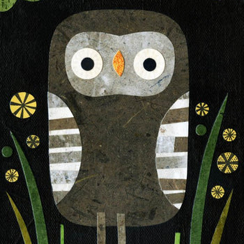 kate endle gray owl art print