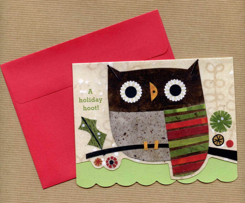 kate endle christmas owl greeting cards