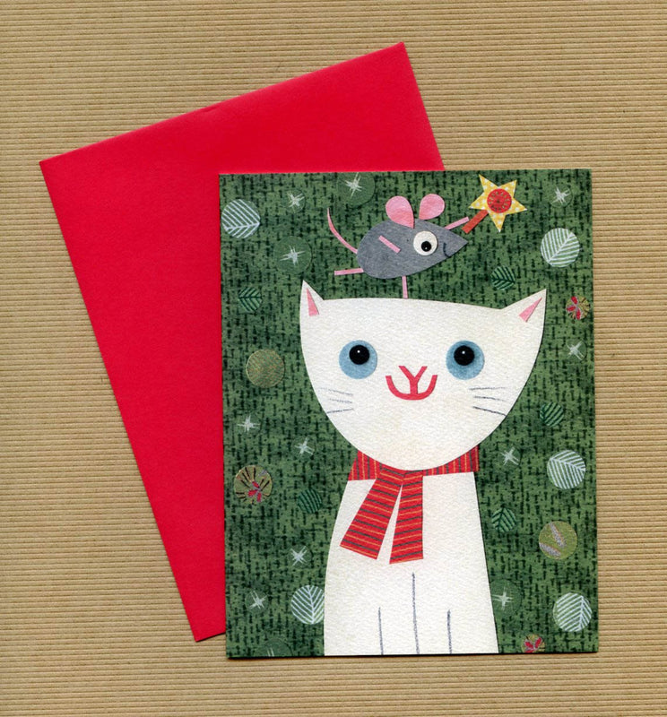 kate endle christmas holiday cat cards