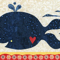 whale thank you note card set