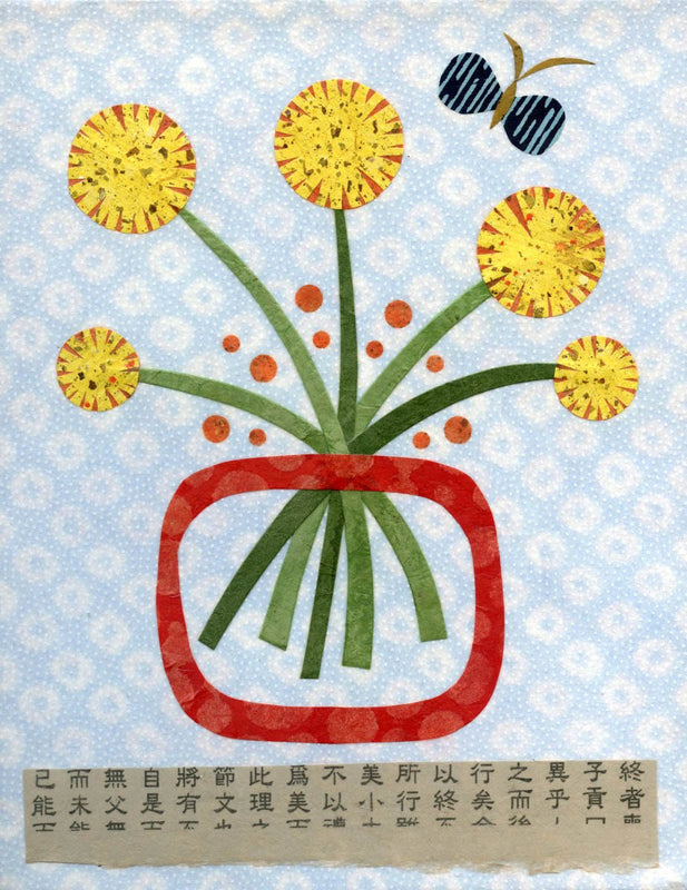 dandelion floral art print kate endle collage