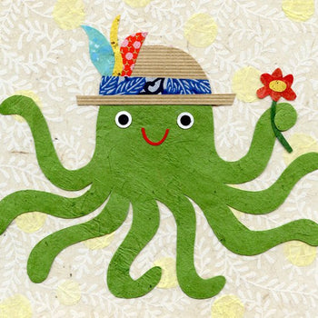 octopus art print for children