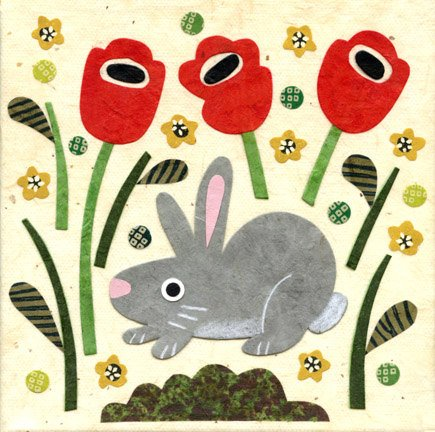 kate endle gray rabbit art print
