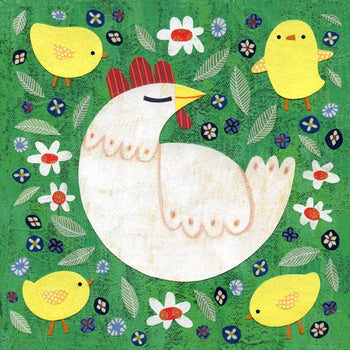 kate endle hen and chick art print