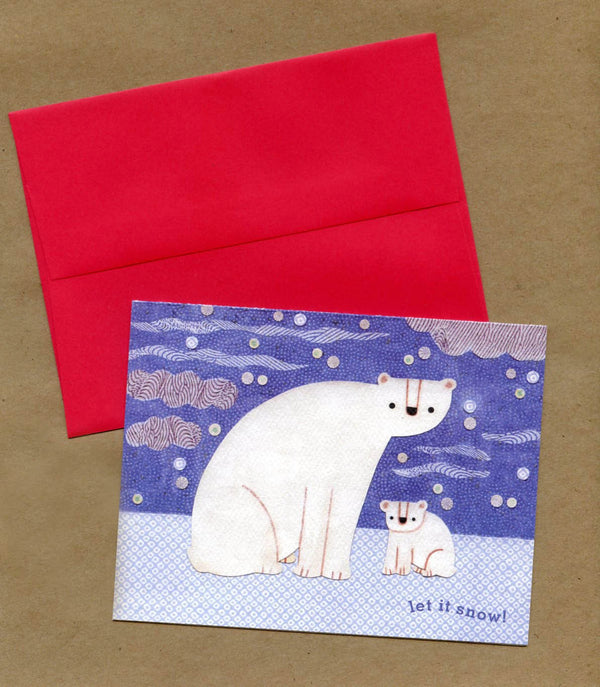 kate endle polar bear christmas card