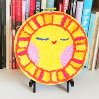 "A Peaceful Sun Punch Needle 8"" Round"