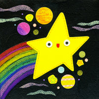 kate endle rainbow shooting star art print