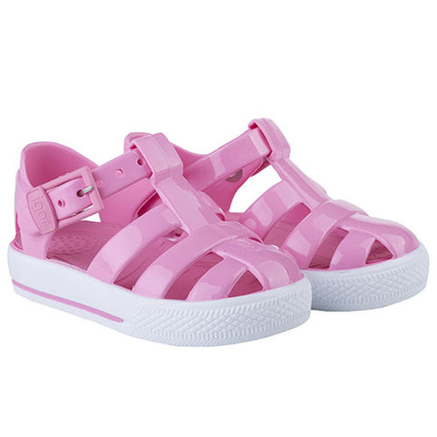 Igor Buckle Strap Tennis Sandal Solid Pale Pink